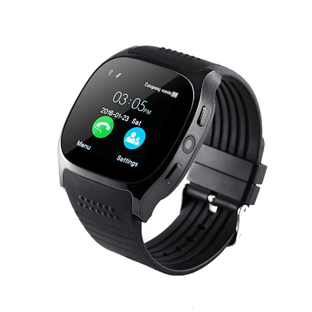 T8 Bluetooth Smart Watch With Camera Facebook Whatsapp Support SIM TFcard Call Sprot Smart Watch Remote Wristwatch For Android