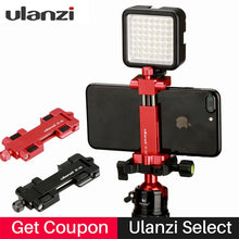 Load image into Gallery viewer, Ulanzi ST-03 Aluminium Mobile Tripod Mount with Hot Shoe Mount for Boya Rode VideoMicro Microphone 1/4'' Tripod Clamp for iPhone