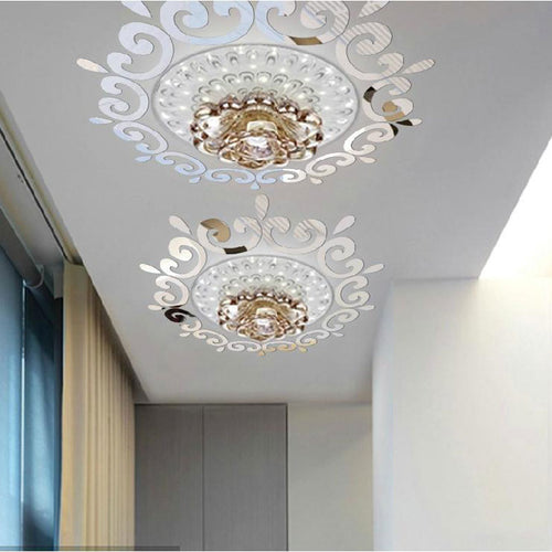DIY Decorative 3D Mirror Ceiling/Wall Sticker
