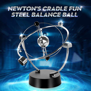 Newton Pendulum Cradle Balance Ball Crafts Educational Desk Toy Metal Decor Home Decoration Accessories Ornaments Christmas Gift