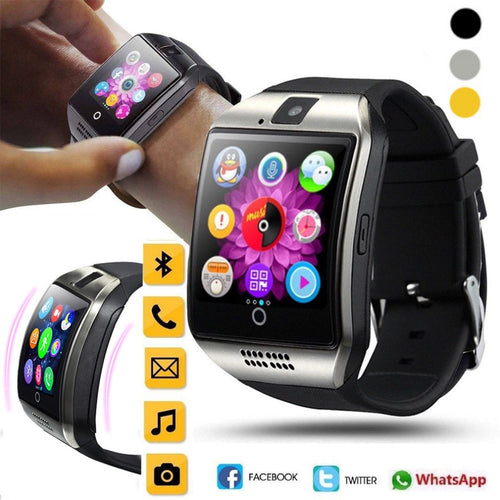 Devices Q18 Bluetooth Smart Watch GSM Camera TF Card Phone Wrist Watch for Android & iOS Wristbands Aug27
