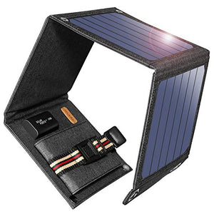 Suaoki SunPower 14W Solar Cells Charger 5V 2.1A USB Output Devices Portable Solar Panels for Smartphones Laptop