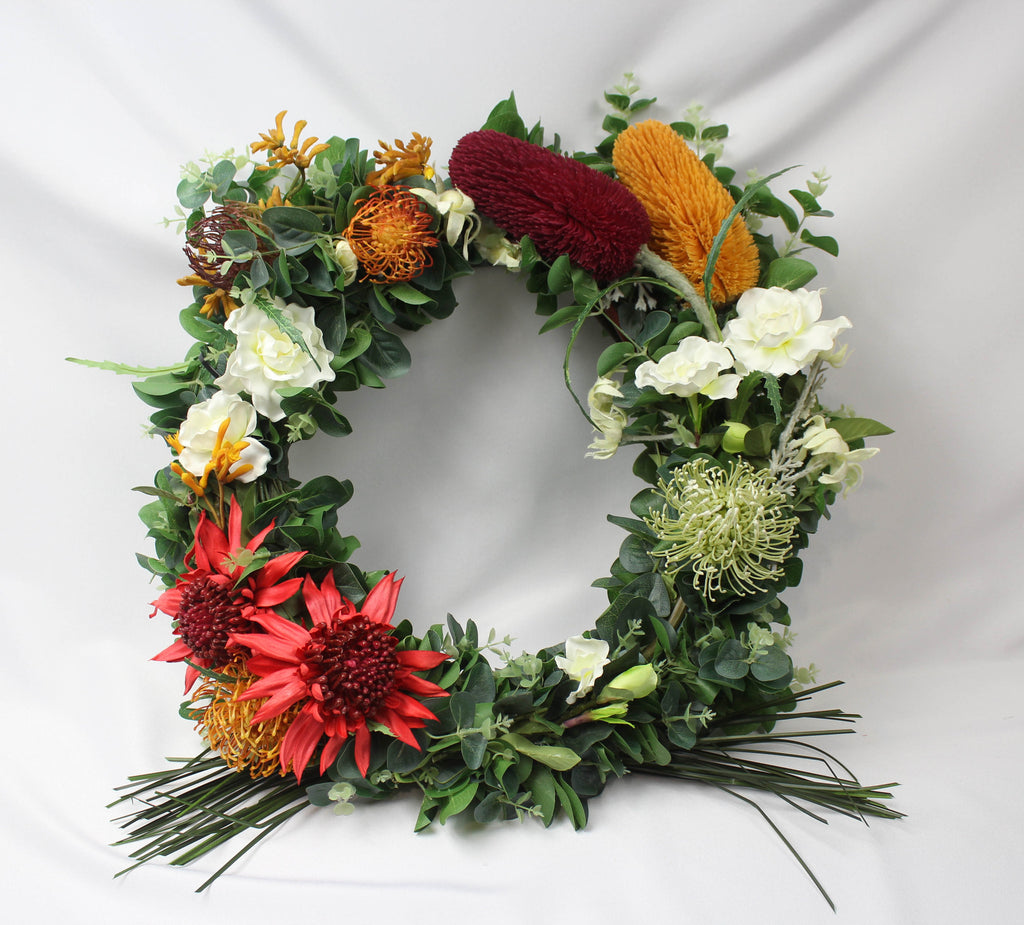 Large Australian Native Wreath 5350 Silk Flowers