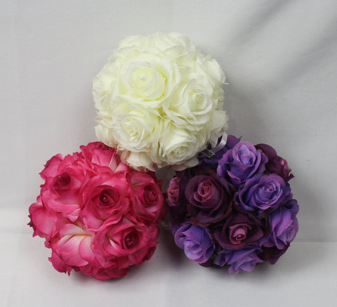 Small rose flower balls