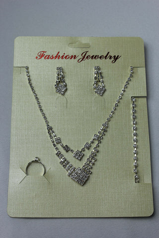 Drop Diamonte Jewellery Set