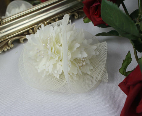Ivory Blossom Fascinator