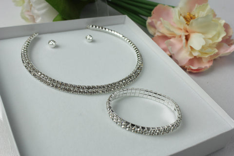 3 Piece Diamonte Set