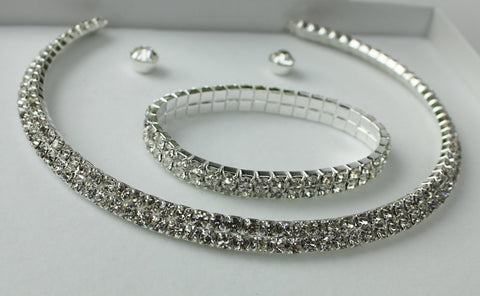 3 Piece Diamonte Set 5174