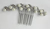 Diamonte and Faux Pearl Spiral Hair Comb