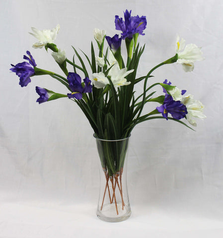 Iris Spray (violet or ivory)