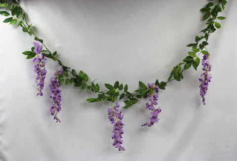Wisteria Garland (purple or white)