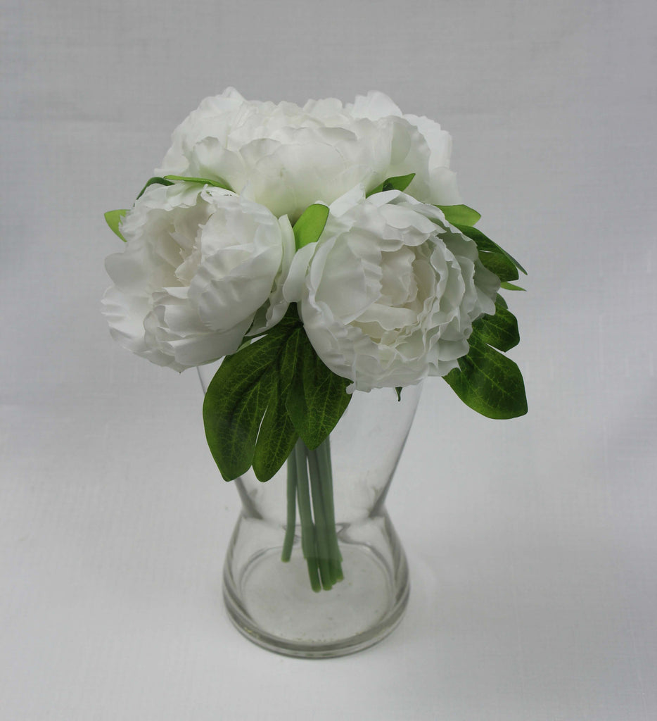 Small Off White Cabbage Rose Posy 5153 Silk Flowers