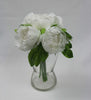 Small Off-white Cabbage Rose Posy 5153