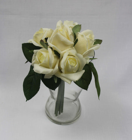 Cream Rose Bud Posy 3019