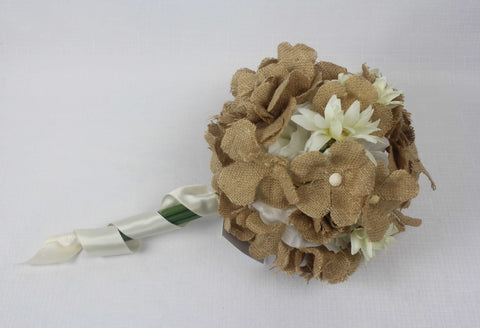 Hessian Blossom Bouquet