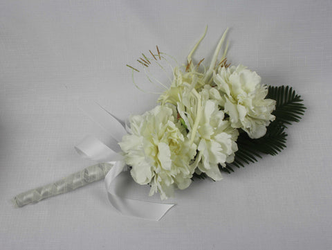 Ivory Long Handled Bouquet