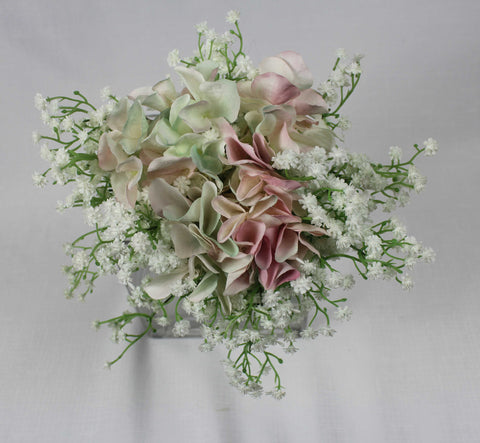 Babies Breath & Hydrangea Bouquet