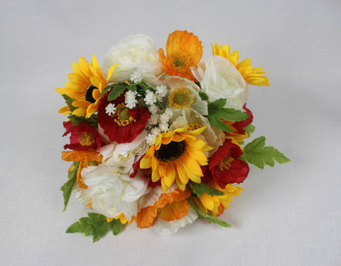 Sunflower & Poppy Bouquet