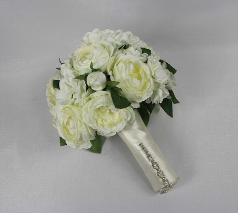 Ivory Cabbage Rose Bouquet