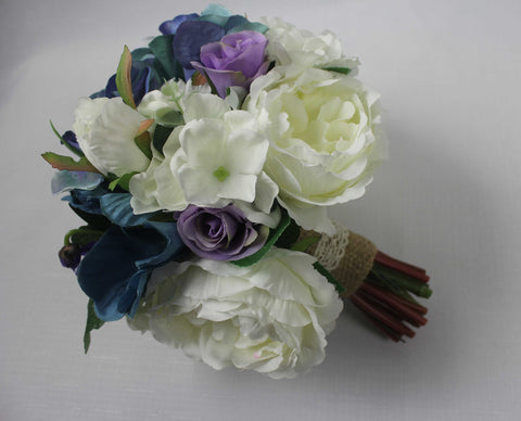 Blue & White Posy