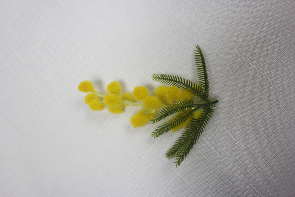 Single Stem Wattle Brooch Pin  1123
