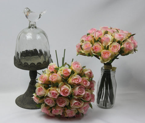 Cream to Pink Rose Posy