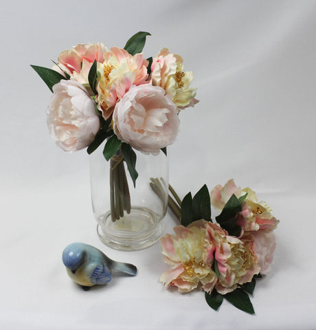 Pale to Blush Cabbage Rose Posy