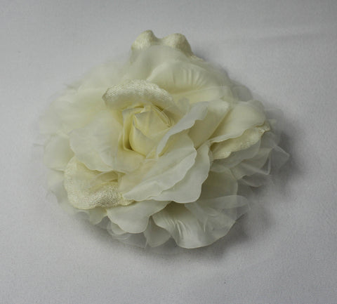 Large Ivory Open Rose 4059