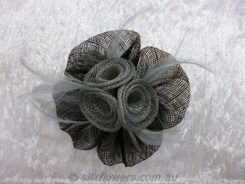 fascinator black and grey 1787