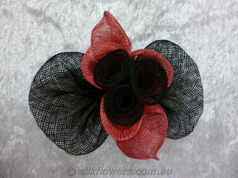 Fascinator black and pink 1790