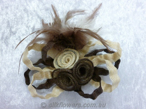 fascinator brown and beige 1793