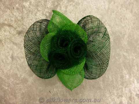 Fascinator lime & emerald 1801