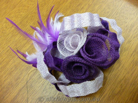 fascinator purple and mauve 1806