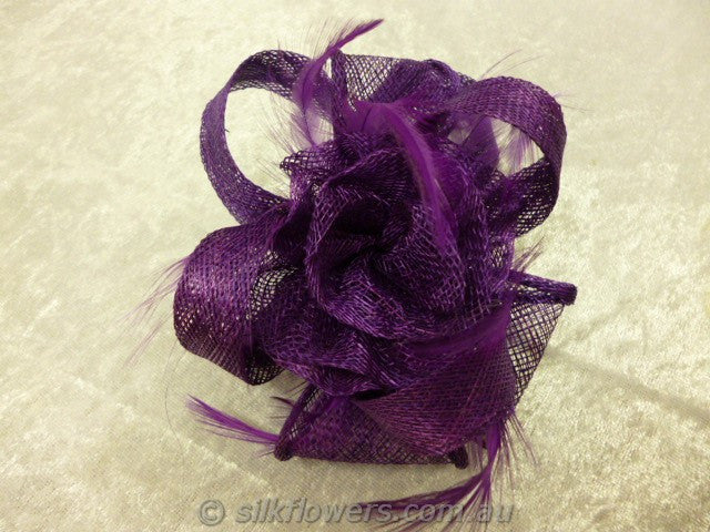 Fascinator purple 1807