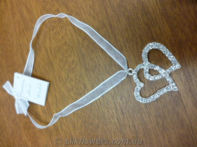 Heart double diamante 1808