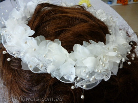 Head-wreath white 19cm 1926
