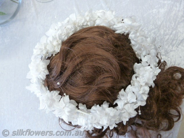 Head-wreath white 22cm 1927