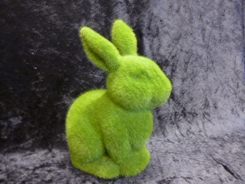 Flocked sitting bunny rabbit 5168