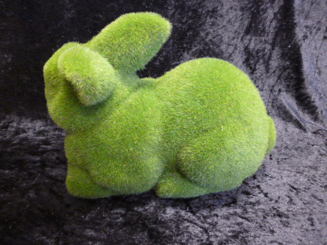 Flocked laying bunny rabbit 5170