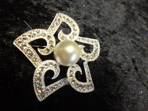 Diamonte Star Brooch 5186