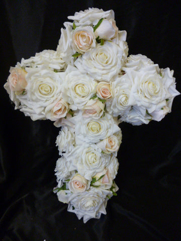 Ivory Rose Cross