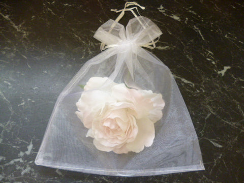Organza Bags (Pack of 50) in white 5293