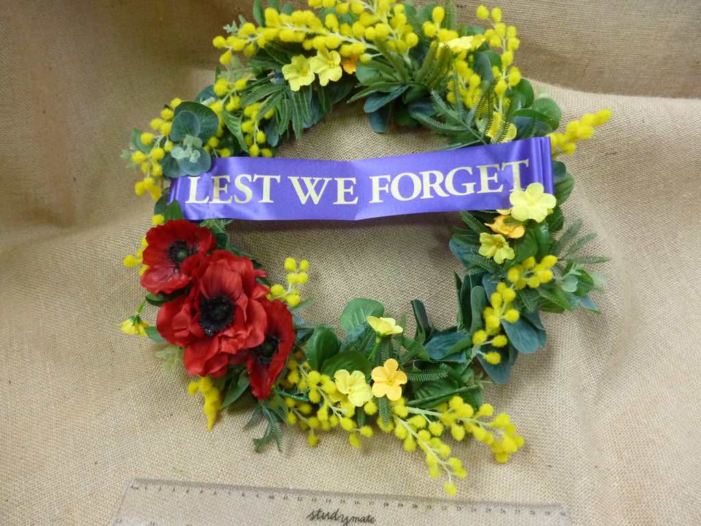 Poppy Lest we Forget travel wreath 5439
