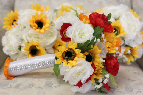 Sunflower & Ivory Rose Package