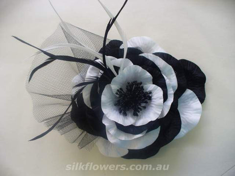 Dual Colour Poppy Fascinator