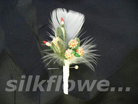 Lapel feather native pin 5cm 1678