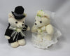 Bride and groom teddy bear set 5190