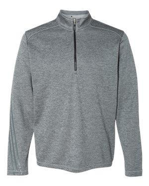 Adidas Men's Brushed Terry Heathered Quarter-Zip Pullover