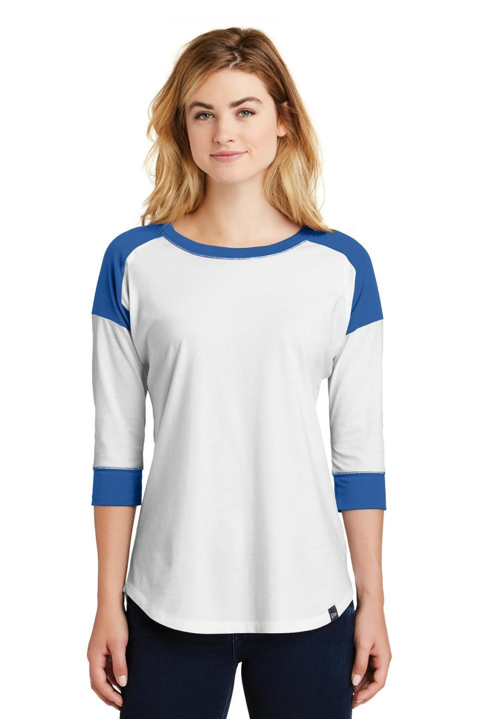 New Era Women's Heritage Blend 3/4-Sleeve Baseball Raglan Tee