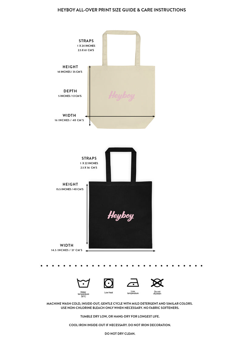 Heyboy Gay Bags size and care